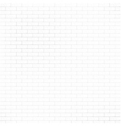 Abstract brick wall white texture vector