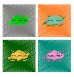 Assembly flat shading style icon cloud bats vector