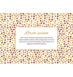 Card cover with stars and text space a4 size vector image vector image
