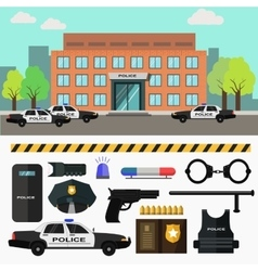 City police station vector image vector image