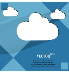 Cloud download application web icon on a flat vector image