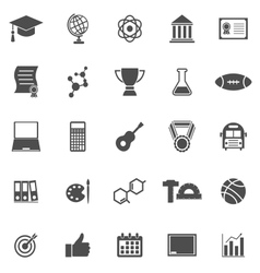 College icons on white background vector