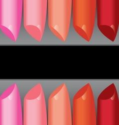 colorful lipstick label board vector image vector image