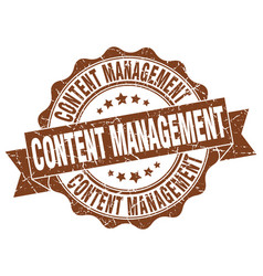 Content management stamp sign seal vector