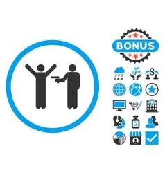 Crime Flat Icon with Bonus vector image vector image