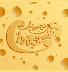 Festive holiday cheese concept vector