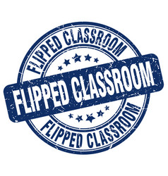 Flipped classroom blue grunge stamp vector