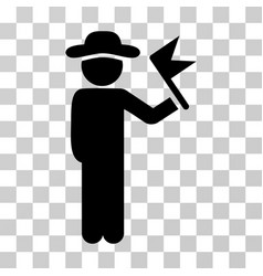 gentleman with flag icon vector image