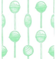 hand drawn lollipop background vector image