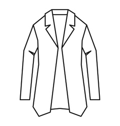 Jacket icon outline style vector