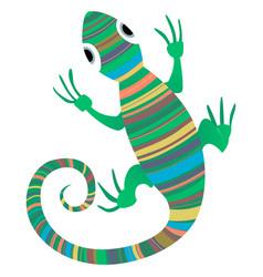 lizard african design vector image vector image
