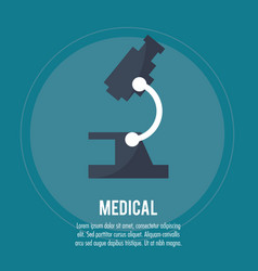 medical microscope health care vector image