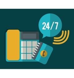 Phone bubble time agend call center service icon vector