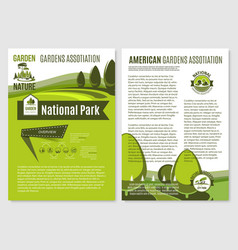 posters for landscape gardening company vector image