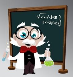 science professor vector image