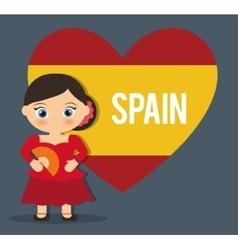 Spain culture and landmark design vector image
