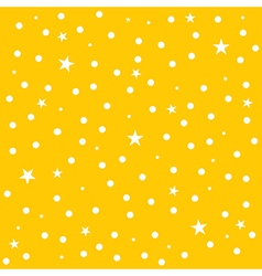 Star polka dot yellow background vector