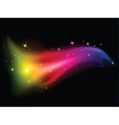 stars and rainbow colours vector image
