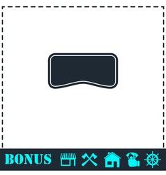 Swim mask icon flat vector