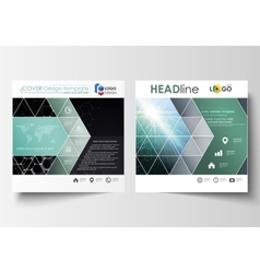 Templates for square design brochure magazine vector
