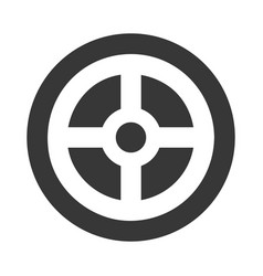 Wheel car direction icon vector