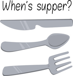 Whens supper vector
