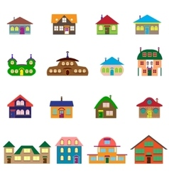 House cartoon set vector
