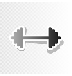 Dumbbell weights sign  new year blackish vector