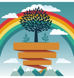 Creative concept with rainbow vector