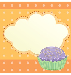 A stationery with a cupcake vector image