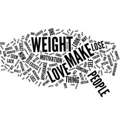 Love can make you lose weight text background vector