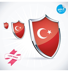 I love turkey flag vector