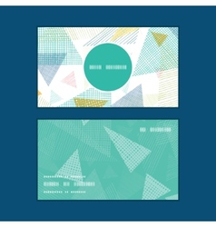 Abstract fabric triangles vertical round frame vector