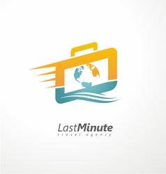 Creative logo design concept for travel agency vector image