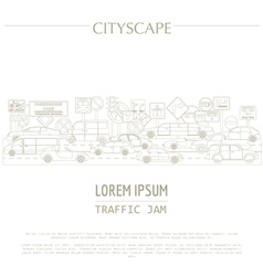 Cityscape graphic template modern city tr vector