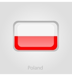 Poland flag button vector