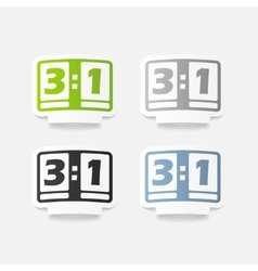 Realistic design element score board vector