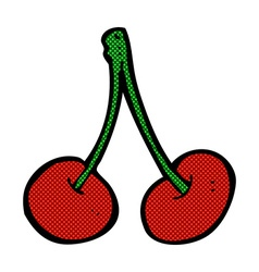 Comic cartoon cherries vector