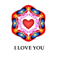 Abstract heart i love you card background vector