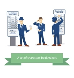 Bookie character cartoon comic man vector