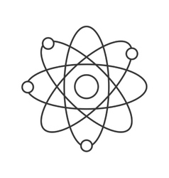 Simple atom icon vector