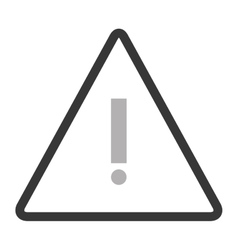 Triangle caution icon vector