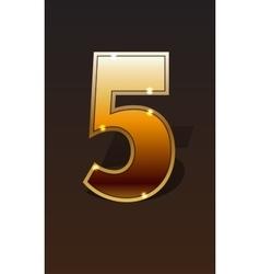 Golden numbers set vector