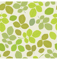 A seamless leaf pattern vector image vector image