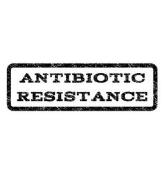antibiotic resistance watermark stamp vector image