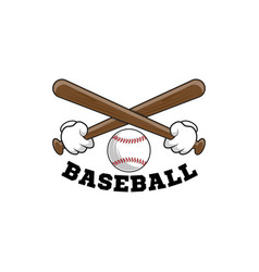 Baseball logo emblem of baseball tournament on vector