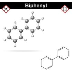 Biphenyl - citrus fruit preservative vector image