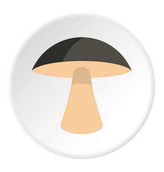 Birch mushroom icon circle vector