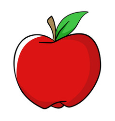 Cartoon of an apple vector