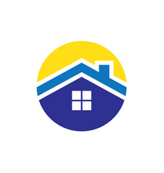 circle roof housing logo vector image vector image